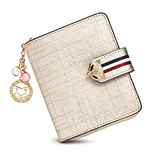 FOXER Small Wallets for Women, Ladies Cute Zipper Purses Credit Card Holders