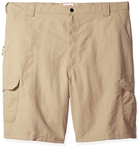 Wrangler Men's Big and Tall Authentics Outdoor Nylon Cargo Short, Desert Sand, 46 (Big And Tall Relaxed Fit Shorts)