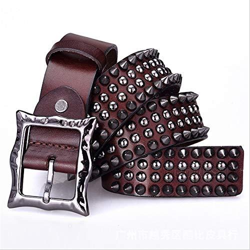 Dig dog bone Leather Belt for Unisex Adults Gothic Belts Handmade Steampunk Studded Punk Rock Blet (Size : 125cm) ()