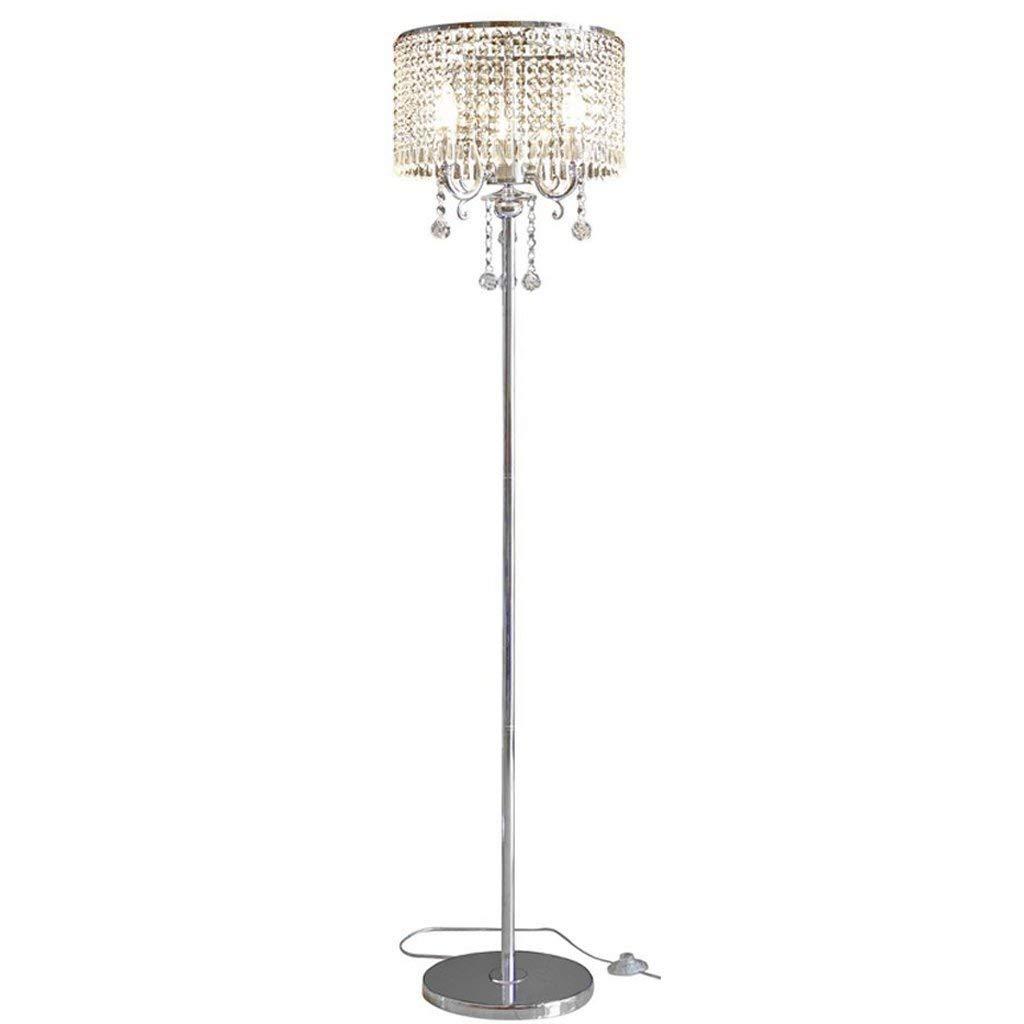 フロアランプ、 ヨーロッパの豪華なクリスタルフロアランプクリエイティブモダンなファッション結婚式LEDベッドサイドの寝室のリビングフロア照明K9垂直フロアランプ B07FMLJYJ8