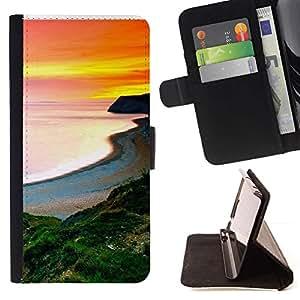 Momo Phone Case / Flip Funda de Cuero Case Cover - Sunset Beautiful Nature 105 - Samsung Galaxy E5 E500