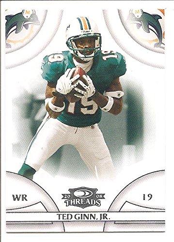 Ted Ginn Jr. Miami Dolphins 2008 Donruss Threads Football Card #68