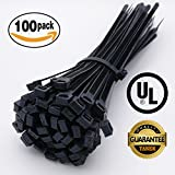 100 Pcs Premium Cable Ties, 12 Inch Durable Heavy Duty Multi-Purpose Nylon Wire Ties, with Min. 120 LBS Tensile Strength, Supper UV Resistant Zip Ties