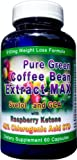 910mg Pure Green Coffee Bean Extract MAX with Svetol ~ GCA ~ Raspberry Ketones ~ Strongest Diet Pill by Diet Health Solutions