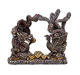 Feng Shui Dragon and Phoenix Celestial Perfect Couple Auspicious Marital Bliss Figurine