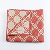 Stylemaster Home Products Renaissance Home Fashion Belmont Reversible Bedspread, Queen, Coral