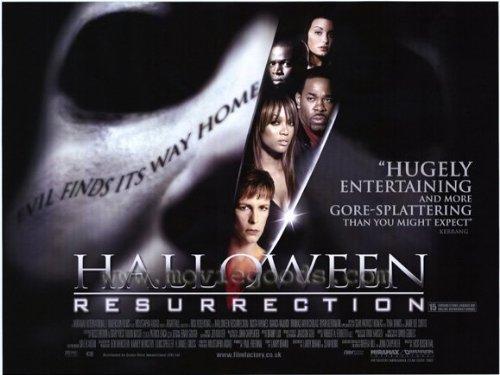 Halloween: Resurrection Movie Poster (11 x 17 Inches - 28cm x 44cm) (2002) Style B -(Busta Rhymes)(Sean Patrick Thomas)(Jamie Lee Curtis)(Bianca Kajlich)(Tyra Banks)(Thomas Ian Nicholas)