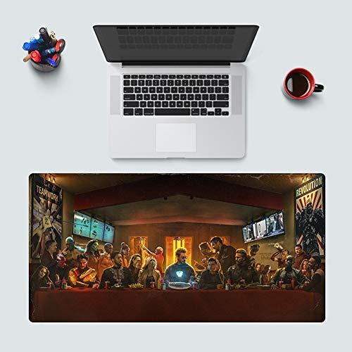 SXHY Gaming Mouse Pad Vengadores, Iron Man Spider-Man Ultra Gruesa Extendido Animado Alfombrilla De Ratón con…