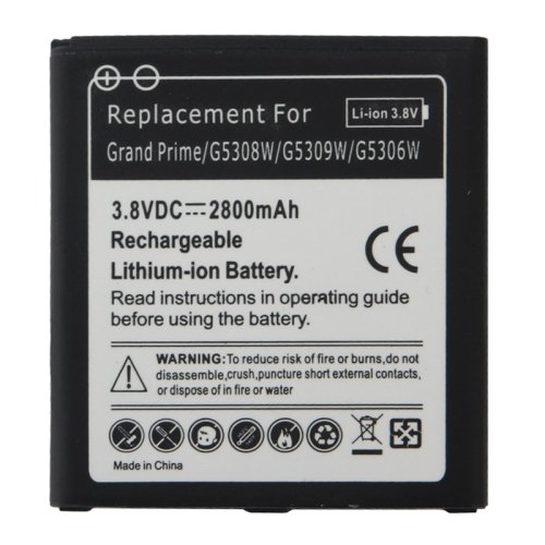 LOPURS 3.8V / 2800mAh Rechargeable Li-ion Battery for Samsung Galaxy Grand Prime / G5308W / G5309W / G5306W