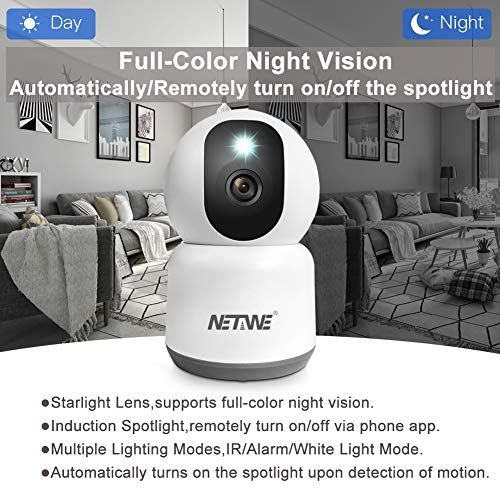 [2021 New] 4MP Security Camera Wifi IP Camera Dual Band 5Ghz/2.4Ghz Indoor Home Wireless Camera for Dog Pet Baby Nanny Monitor Camera Cam Night Vision Tow Way Audio Motion Human Detection SD Recording