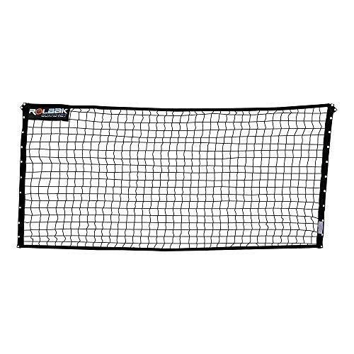 Rolbak 10 Feet Guard Net Set with Pegs, Ground Anchors, Steel Posts and Carry-All Bag (Netting Barrier)