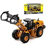 Geminismart 1/50 Scale Die-cast Dump Truck Timber Grab Truck Engineering Vehicle Construction Alloy Models Toys for Kids and Decoration for House (Timber Grab Truck)