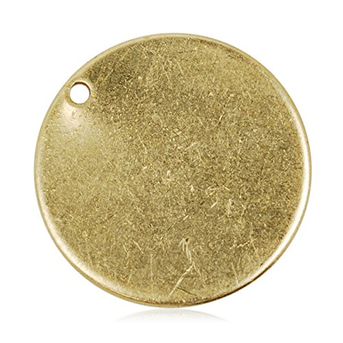 20mm Raw of Diameter Round Circle Stamping Blank Tags for Metal Punching,50pcs/lot