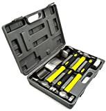 Bastex 7pc Auto Body Fiberglass Repair Dent Removal Kit for Fenders Doors Pannels and Boats