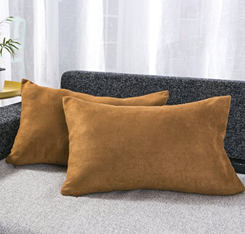 Best Dreamcity Set of 2 Faux Suede Back Cushion Covers / Bol