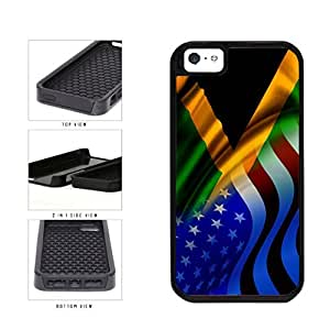 Jamaica and USA Mixed Flag 2-Piece Dual Layer Phone Case Back Cover Apple iPhone 5 5s