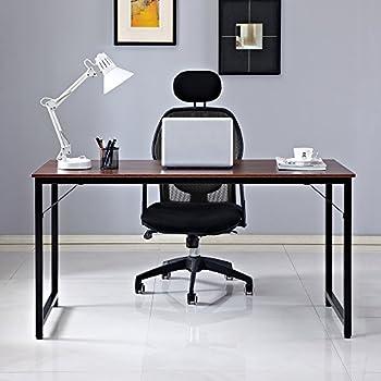 kansas oak hidden home office. Dland Home Office Computer Desk Table JJW-120, Composite Wood Board, Walnut, 47\ Kansas Oak Hidden