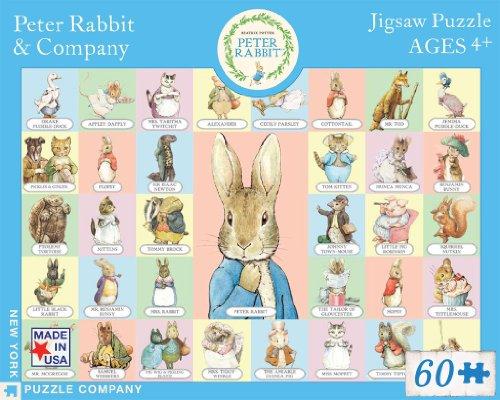 New York Puzzle Company - Beatrix Potter Peter Rabbit & Co - 60 Piece Jigsaw Puzzle