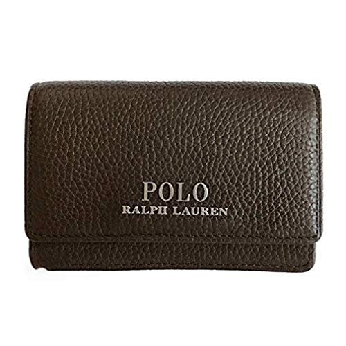 Polo Ralph Lauren Genuine Leather Card Case Holder Dark Brown (Dark Brown) (Holder Card Polo)