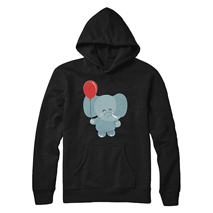 67e5b8135 Teely Shop Women s Kid s Cute Elephant Love Animal Gildan - Pullover Hoodie  Black S