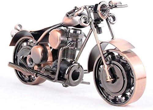 錬鉄のオートバイの装飾品の家の家具の衣料品店の柔らかい装飾の窓の室内装飾、ギフト (Color : Bronze, Size : 14*6*8cm)