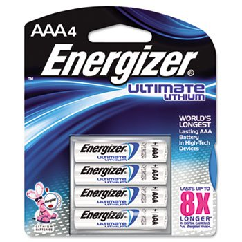 Energizer e Lithium Batteries, AAA, 4/Pack