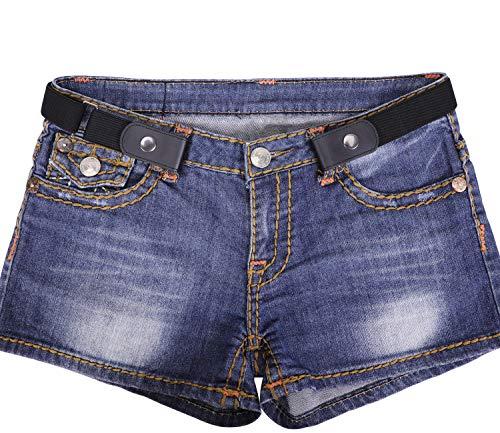 WERFORU No Buckle Women/Men Stretch Belt Elastic Waist Belt for Jeans Pants Dresses Adult Adjustable Elastic Belts