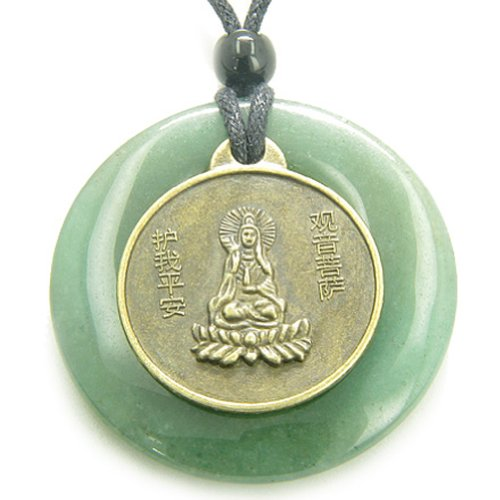 Talisman Money Crystal - Magic Circle Kwan Yin Quan Dragon Money Talisman Coin Pendant Necklace