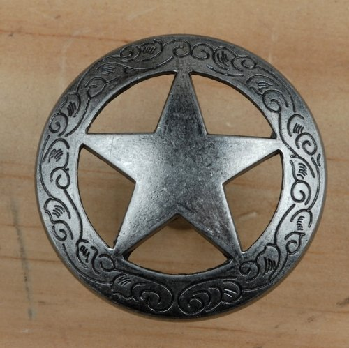 Set of 24 Fancy Garland Lone Star Drawer Pulls Cabinet Knobs Western Southwest Decor Texas (Old ()