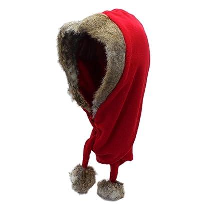 Unisex Sciare Cappello da Caccia Trooper Cappello da sci da donna con  pompon Scudo antivento Balaclava 3d0df96c2285
