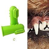 DHmart Super Soft Pet Finger Toothbrush Teddy Dog Brush Bad Breath Tartar Teeth Tool