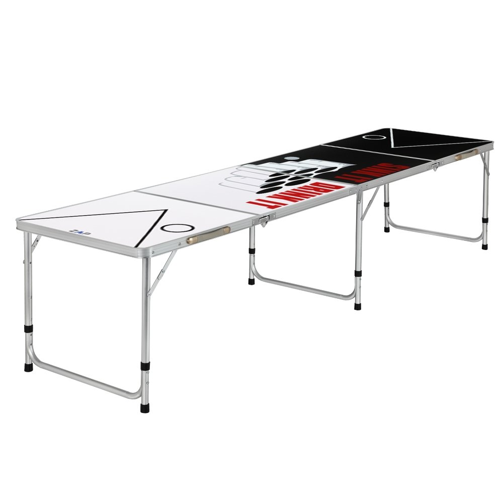 ZAAP 8ft Tournament Size Folding Beer Pong/Picnic/Camping Table (8FT, Sink & Drink) by ZAAP