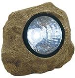Moonrays 91211 Solar Powered Rock Spotlight with Key Hider Garden Accent