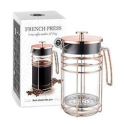 AmoVee French Press Coffee Maker Borosilicate Glass