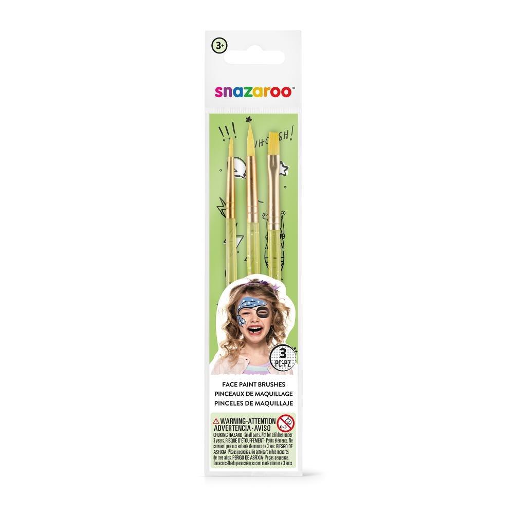 amazon com snazaroo green starter brushes set of 3 arts