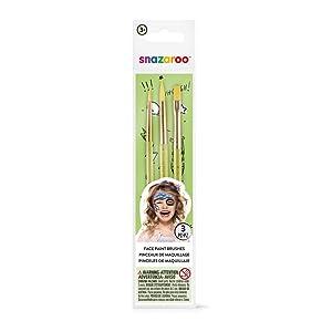 Snazaroo Green Starter Brushes - Set of 3