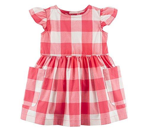 Carter's Baby Girls' Gingham Poplin Dress 9 Months