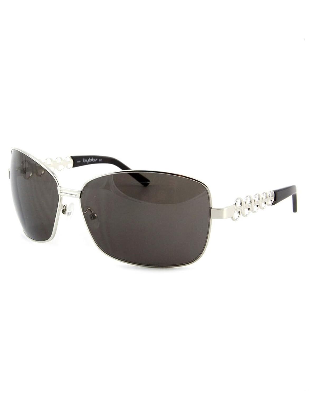 Byblos Designer Sonnenbrille Platin mit blauen Gläsern Hw7ryBcqZ2