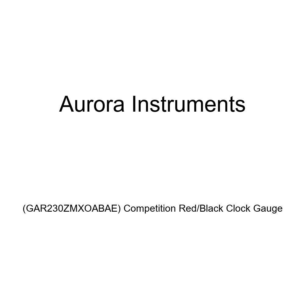 GAR230ZMXOABAE Competition Red//Black Clock Gauge Aurora Instruments