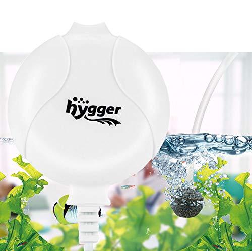 - Hygger Quiet Aquarium Air Pump 1.5 Watt Energy Saving Mini Oxygen Pump for 1-15 Gallon Fish Tank with Accessories White