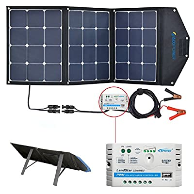 Solar Panels for RV, Portable Suitcase Solar Kit with Charge Controller