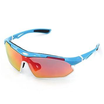 Spohife Sonnenbrille, UV 400, Schutz-Brille mit rveo für Damen und Herren Radfahren Skifahren Angeln Golf, rot