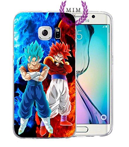 Samsung Instinct Silicone Case (Dragon Ball Z Super GT Samsung Cases Covers - Ultra Instinct - Goku Blue - Vegeta Blue - Gohan - Goku Rose - MIM UK (S8 Plus, Ultimate Fusions))