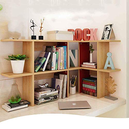 - DEED Children's Bookshelf Space Saving Bookshelf,Simple Table Modern Desktop Bookshelf Combination Small Bookshelf Creative Shelf Student Floor Multifunctional Creative Desktop Small Bookshelf Home O