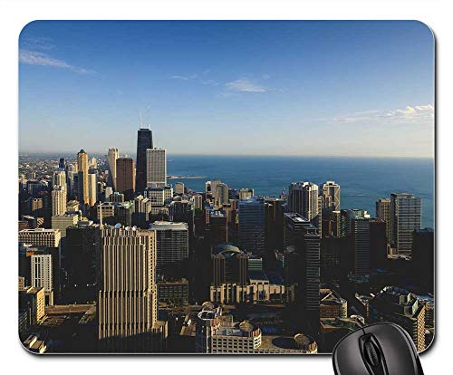 (Mouse Pad - Chicago City John Hancock Chicago Skyline)