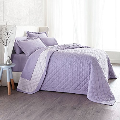 Brylanehome Studio Reversible Quilted Bedspread (Lavender Misty (Lilac Studio)
