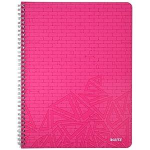 LEITZ 46560099 - Cuaderno con tapas de cartón DIN A4 papel cuadriculado 70 hojas colores surtidos