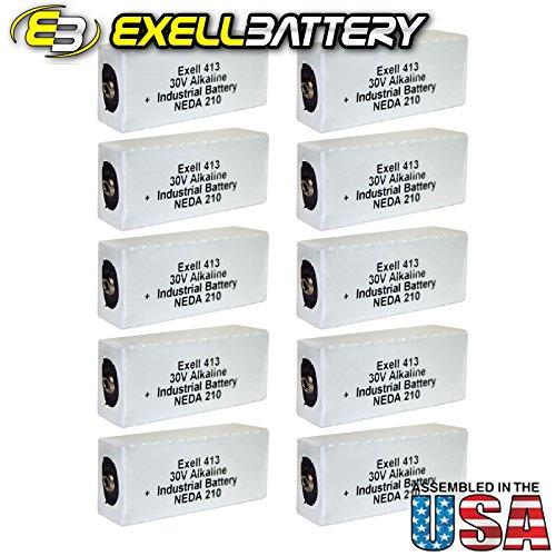 10pc Exell 413A Alkaline 30V Battery NEDA 210, 20F20, BLR123 ER413 by Exell Battery
