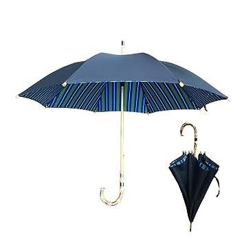 T.Kerry Paraguas Largo De Bambú De Mango Largo Paraguas Hombres Automáticos Mujeres Doble Negocio Paraguas Viento Resistente Un Toque Lluvia Paraguas: ...