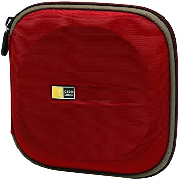 Case Logic EVW-24 EVA Molded 24 Capacity CD/DVD Case (Red)